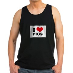 I Heart Pigs Men's Dark Tank Top