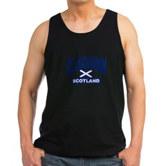 Glasgow Scotland Men's Dark Tank Top