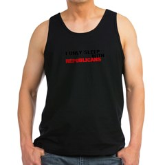 IONLYSLEEPWITHREPUBLICANS Men's Dark Tank Top