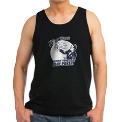 Why Work When You Can Play Poker Men's Dark Tank Top