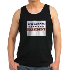 ESTEFANIA for president Men's Dark Tank Top