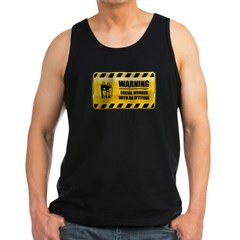 Warning Social Worker Men's Dark Tank Top