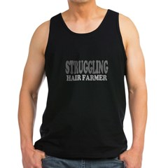 Struggling Hair Farmer Men's Dark Tank Top