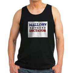 MALLORY for dictator Men's Dark Tank Top