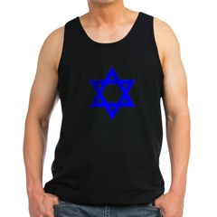 Star of David Blue Men's Dark Tank Top