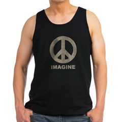 VintageImaginePeace1Bk Men's Dark Tank Top