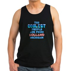 Coolest: Holland, MI Men's Dark Tank Top