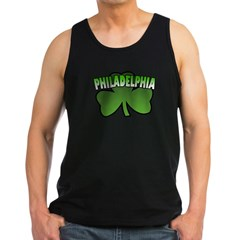 Philadelphia Shamrock Men's Dark Tank Top