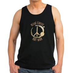 Make Coffee Men's Dark Tank Top