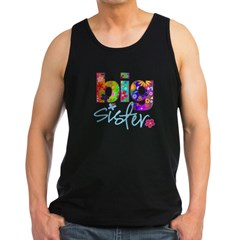 2-big sister flower back Men's Dark Tank Top