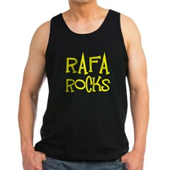 Rafa Rocks Tennis Design Men's Dark Tank Top