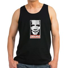 Comic Style Barack Obama Men's Dark Tank Top