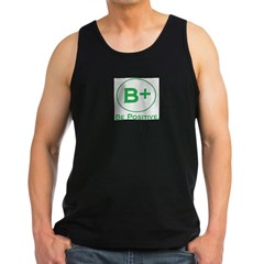 be positive 2.jpg Men's Dark Tank Top