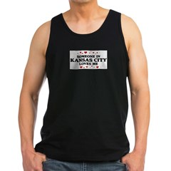 Loves Me in Kansas City Men's Dark Tank Top