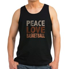Peace Love Basketball Men's Dark Tank Top