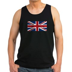 United Kingdom Union Jack Flag Men's Dark Tank Top