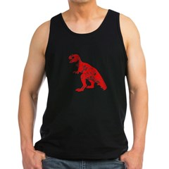 Red Dino Men's Dark Tank Top