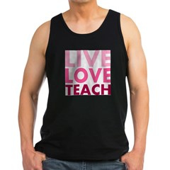 Live Love Teach Men's Dark Tank Top