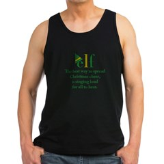 Elf Christmas Cheer Men's Dark Tank Top