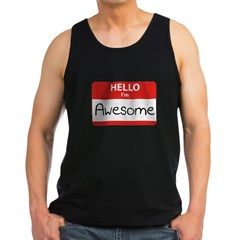 Hello, I'm Awesome Men's Dark Tank Top