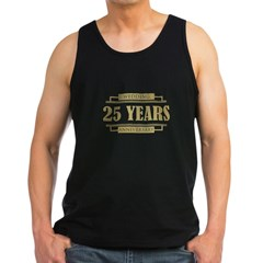 Stylish 25th Wedding Anniversary Men's Dark Tank Top