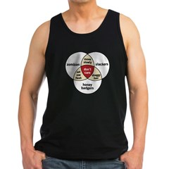 Zombies Honey Badgers Slacker Men's Dark Tank Top