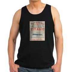 Titanic Advertising Card Men's Dark Tank Top