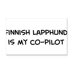 Co-pilot: Finnish Lapphund Rectangle Car Magnet