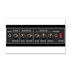 Guitar Amp Vynal Rectangle Car Magnet