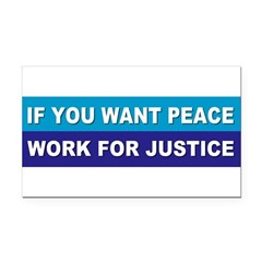 peace justice... Rectangle Car Magnet