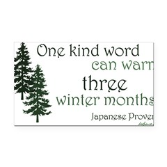 Kind Word Rectangle Car Magnet