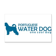 "P. Water Dog ""One Cool Dog"" Rectangle Car Magnet"