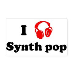 Synth pop music Rectangle Car Magnet