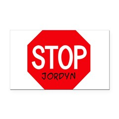 Stop Jordyn Rectangle Car Magnet