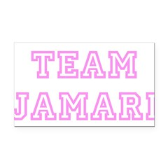Pink team Jamari Rectangle Car Magnet