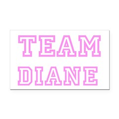 Pink team Diane Rectangle Car Magnet