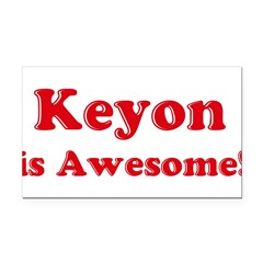 Keyon is Awesome Rectangle Car Magnet