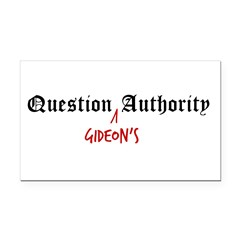 Question Gideon Authority Rectangle Car Magnet