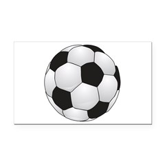 Soccerball II Rectangle Car Magnet
