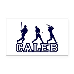Baseball Caleb Personalized Rectangle Car Magnet