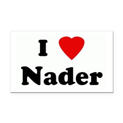 I Love Nader Rectangle Car Magnet