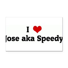 I Love Jose aka Speedy Rectangle Car Magnet