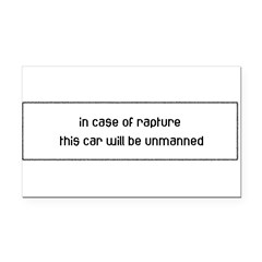 In Case of Rapture Rectangle Car Magnet