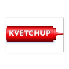 Kvetchup Rectangle Car Magnet
