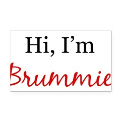 Hi, I am Brummie Rectangle Car Magnet