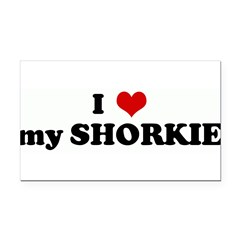 I Love my SHORKIE Rectangle Car Magnet