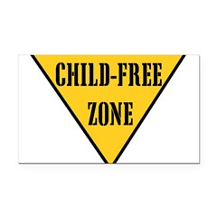 Child-Free Zone Rectangle Car Magnet