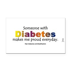 Diabetes Pride Rectangle Car Magnet