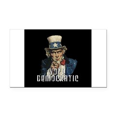 Vote Democratic II - Uncle Sa Rectangle Car Magnet
