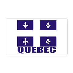 Quebec Rectangle Car Magnet